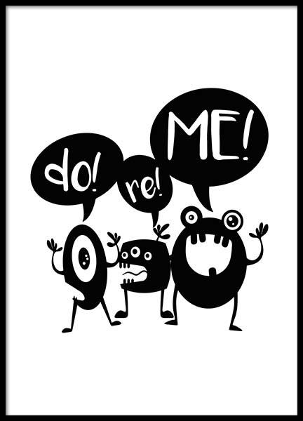Do Re Me Poster in the group Prints / Sizes / 30x40cm | 12x16 at Desenio AB (2799)