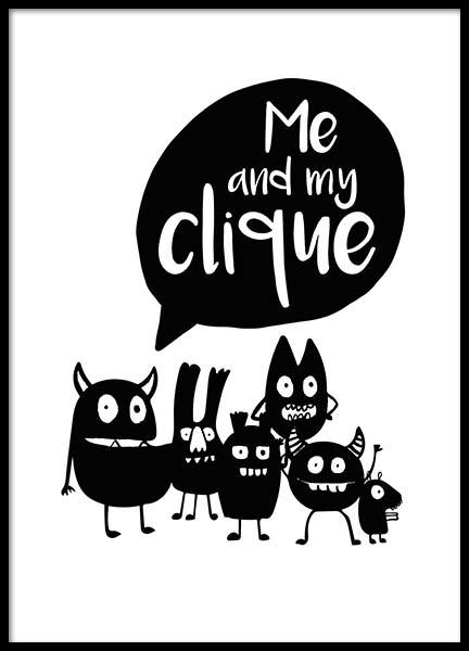 Me And My Clique Poster in the group Prints / Kids posters at Desenio AB (2800)