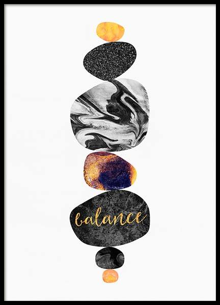 Stone Balance Poster in the group Prints / Graphical at Desenio AB (2820)