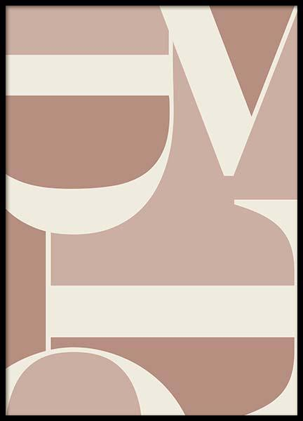 Letters Pink Poster in the group Prints / Sizes / 50x70cm | 20x28 at Desenio AB (2839)