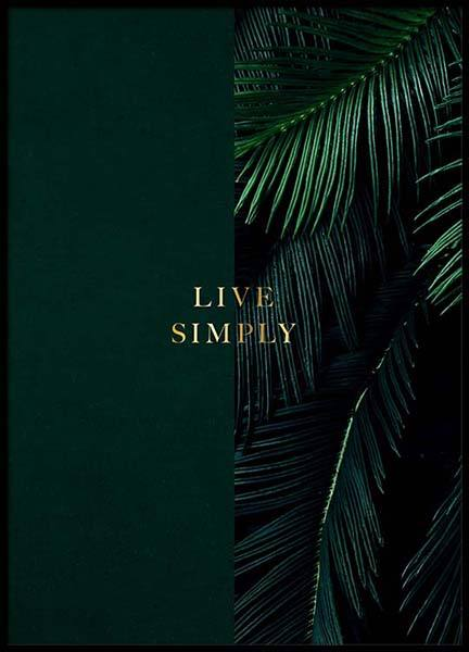 Green Live Simply Poster in the group Prints / Text posters at Desenio AB (2849)