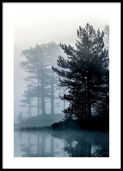 Forest By The Lake Poster in the group Prints / Nature at Desenio AB (2861)