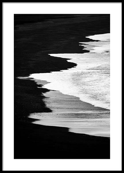Beach B&W Poster in the group Prints / Nature at Desenio AB (2862)