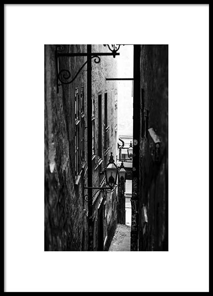 Stockholm Alley Poster in the group Prints / Sizes / 50x70cm | 20x28 at Desenio AB (2872)