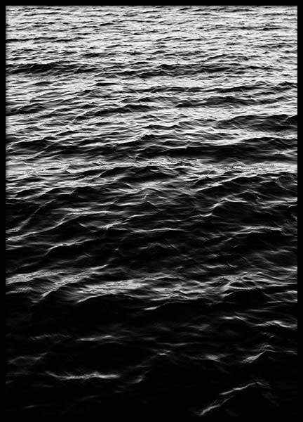Ocean Surface B&W Poster in the group Prints / Sizes / 70x100cm | 28x39 at Desenio AB (2944)