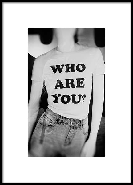 Who Are U Poster in the group Prints / Photographs at Desenio AB (2961)