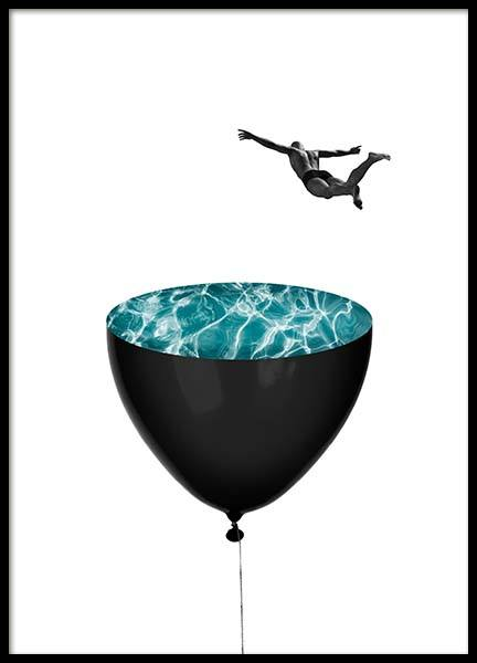 Pool Balloon Poster in the group Prints / Art prints at Desenio AB (2972)