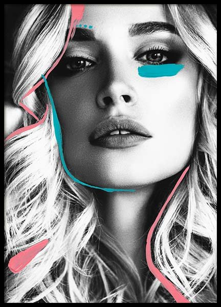 Neon Model Three Poster in the group Prints / Photographs at Desenio AB (2979)