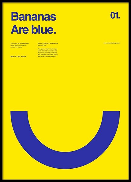 Bananas Are Blue Poster in the group Prints / Graphical at Desenio AB (2987)