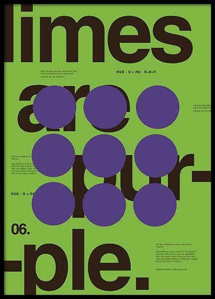Limes Are Purple Poster in the group Prints / Graphical at Desenio AB (2989)