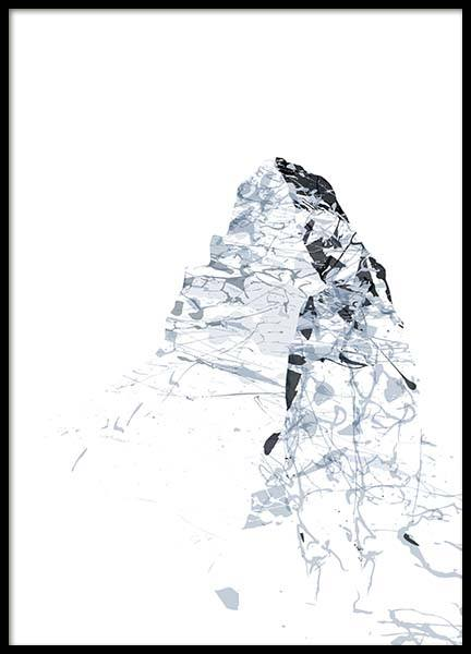Grey Mountains Matterhorn Poster in the group Prints / Art prints / Abstract art at Desenio AB (2991)