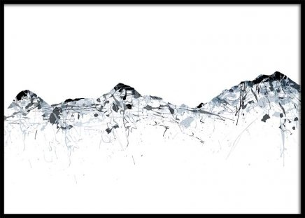 Grey mountains Jungfrau Poster in the group Prints / Sizes / 70x100cm | 28x39 at Desenio AB (2992)