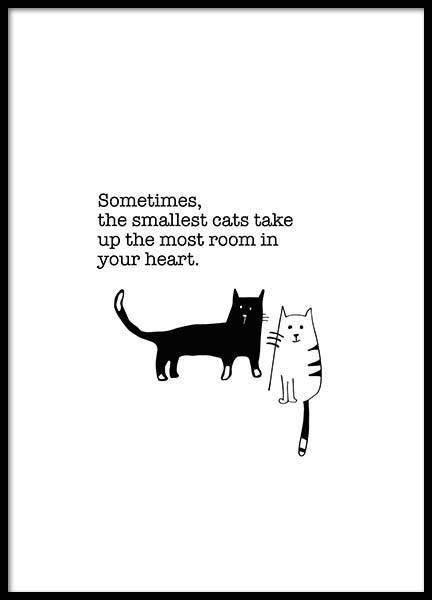 The Smallest Cats Poster in the group Prints / Kids wall art at Desenio AB (3116)