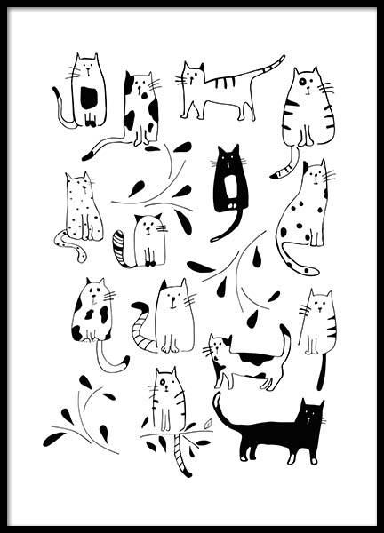 Cats (30x40) in the group Prints / Illustrations at Desenio AB (3117-5)
