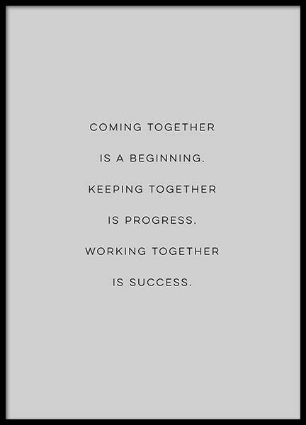 Coming Together Poster in the group Prints / Typography & quotes at Desenio AB (3122)