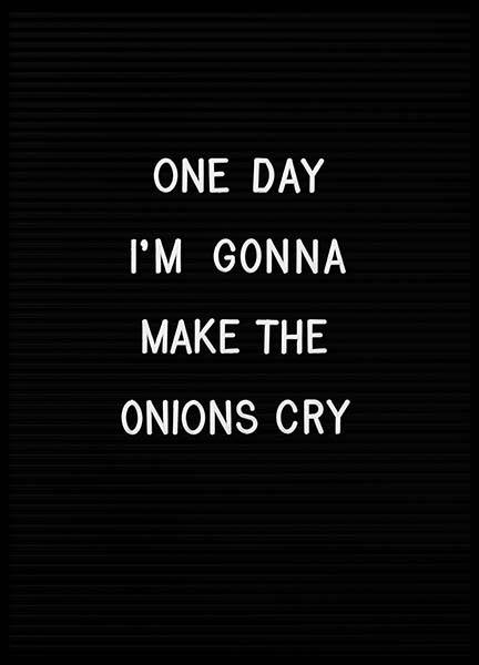 Onions Poster in the group Prints / Typography & quotes at Desenio AB (3129)