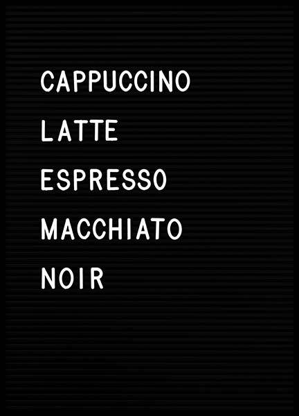 Coffee Chart Poster in the group Prints / Text posters at Desenio AB (3130)