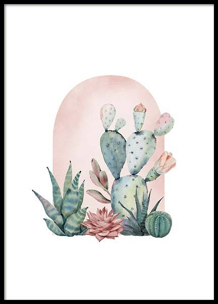 Cactus Collection No1 Poster in the group Prints / Botanical at Desenio AB (3143)