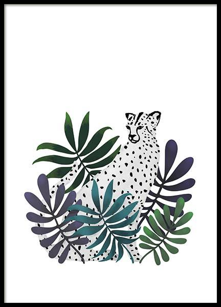 Jungle Cat Poster in the group Prints / Illustrations at Desenio AB (3145)