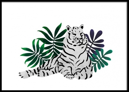 Sleepy Tiger Poster in the group Prints / Illustrations at Desenio AB (3146)