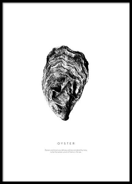 Oyster Poster in the group Prints / Black & white at Desenio AB (3164)