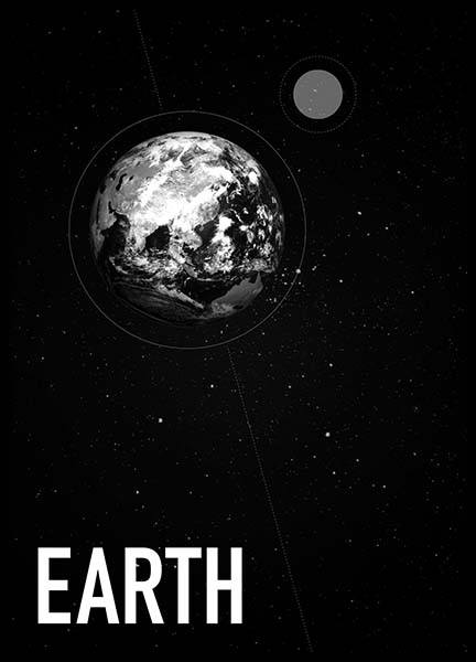 Earth From Space Poster in the group Prints / Kids posters at Desenio AB (3169)