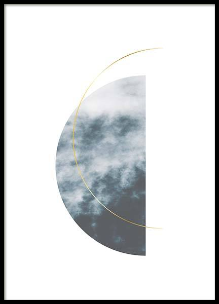 Graphic half circle Poster in the group Prints / Sizes / 50x70cm | 20x28 at Desenio AB (3174)