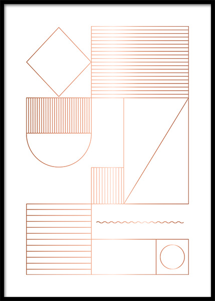 Geometric Shapes Poster in the group Prints / Graphical at Desenio AB (3175)