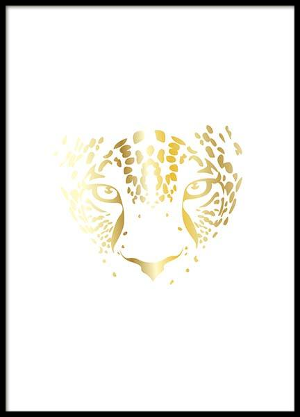 Golden Leopard Poster in the group Prints / Sizes / 50x70cm | 20x28 at Desenio AB (3182)