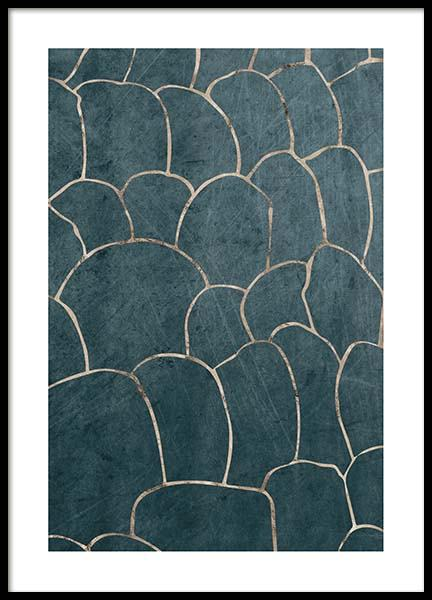 Golden Tiles Pattern Poster in the group Prints / Graphical at Desenio AB (3184)