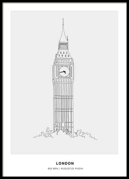 Architecture London Poster in the group Prints / Black & white at Desenio AB (3199)
