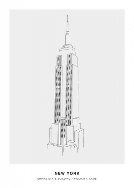 Architecture New York Poster in the group Prints / Illustrations at Desenio AB (3200)