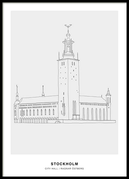Architecture Stockholm Poster in the group Prints / Illustrations at Desenio AB (3202)
