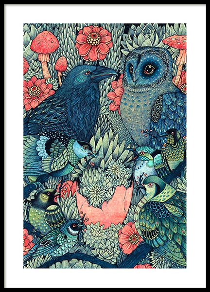 The Flock Poster in the group Prints / Illustrations at Desenio AB (3203)
