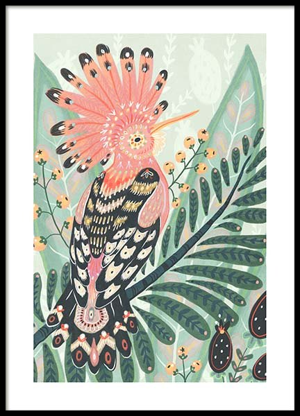 The Hoopoe Poster in the group Prints / Illustrations at Desenio AB (3204)