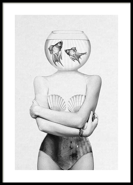 Fish Bowl Poster in the group Prints / Illustrations at Desenio AB (3208)