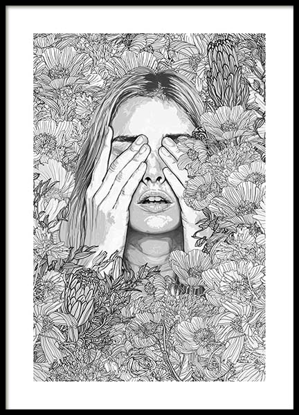 Abigail Poster in the group Prints / Black & white at Desenio AB (3225)