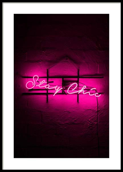 Stay Chic Poster in the group Prints / Sizes / 50x70cm | 20x28 at Desenio AB (3232)