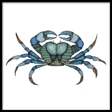 Blue Crab Poster in the group Prints / Sizes / 50x50cm | 20x20 at Desenio AB (3245)