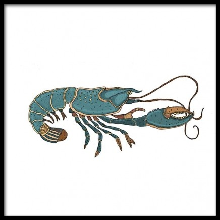 Blue Lobster Poster in the group Prints / Sizes / 50x50cm | 20x20 at Desenio AB (3246)