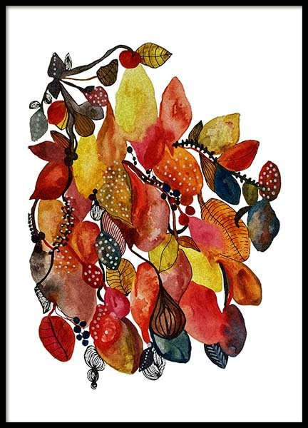 Autumn Leaves Poster in the group Prints / Art prints at Desenio AB (3255)