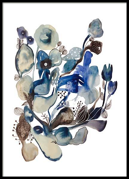 Shades Of Blue Poster in the group Prints / Art prints at Desenio AB (3256)
