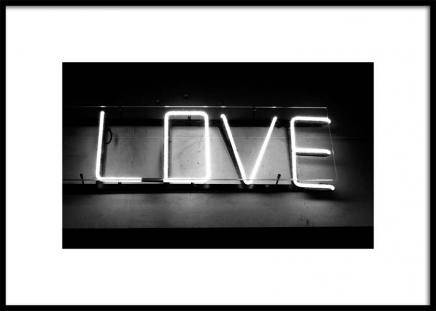 Neon Love Poster in the group Prints / Photographs at Desenio AB (3287)