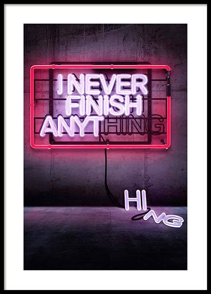 Never Finish Poster in the group Prints / Photographs at Desenio AB (3288)