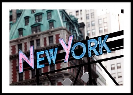 New York Neon Sign Poster in the group Prints / Photographs at Desenio AB (3289)