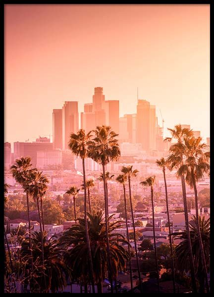 LA Sunset Poster in the group Prints / Maps & cities at Desenio AB (3300)
