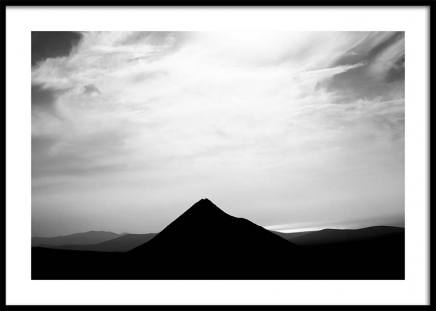 Black Mountain Poster in the group Prints / Sizes / 50x70cm | 20x28 at Desenio AB (3301)