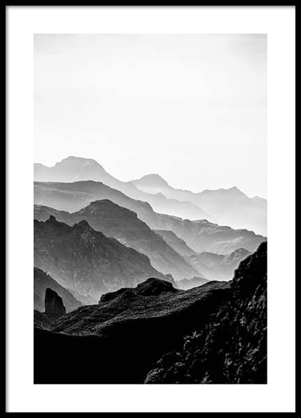 Black Rocky Mountains Poster in the group Prints / Nature at Desenio AB (3302)