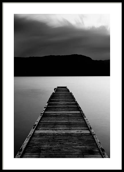 Wooden Pier Poster in the group Prints / Black & white at Desenio AB (3305)