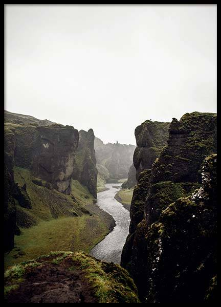River Through Cliffs Poster in the group Prints / Nature at Desenio AB (3310)